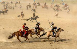 モンゴルの騎馬