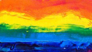 虹色ペインティング