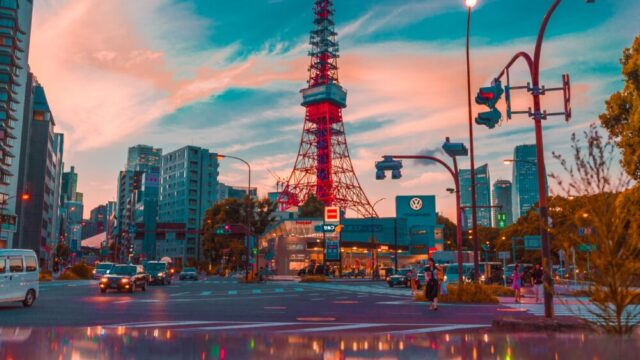 東京タワーを含む風景